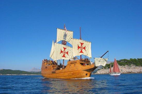 Crucero por las islas Elafiti con actuación en directo en un galeón desde Dubrovnik: Croatia Elafiti Islands Cruise by Galleon from Dubrovnik
