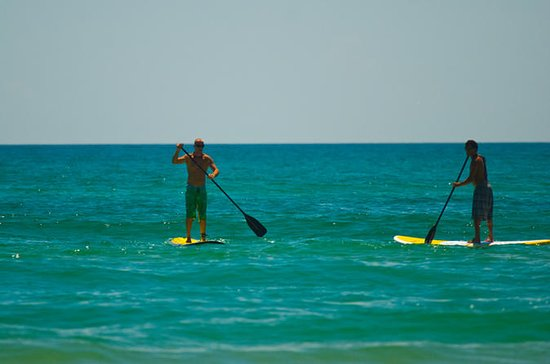 Group stand up paddle board lesson