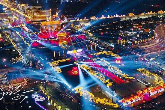 Giro notturno nella città di Xi'an