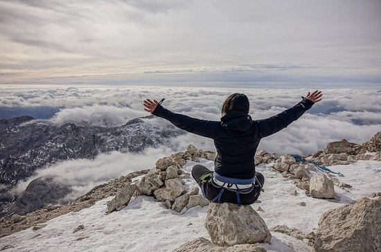 Winter hike in Julian Alps