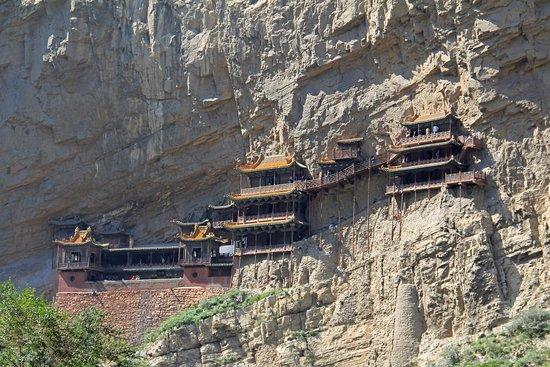 Hunyuan County, Kina: Hanging Temple or Xuankong Temple. Beautiful !