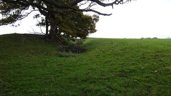 Shropshire, UK: Ditch and embankment near Montgomery in Powys