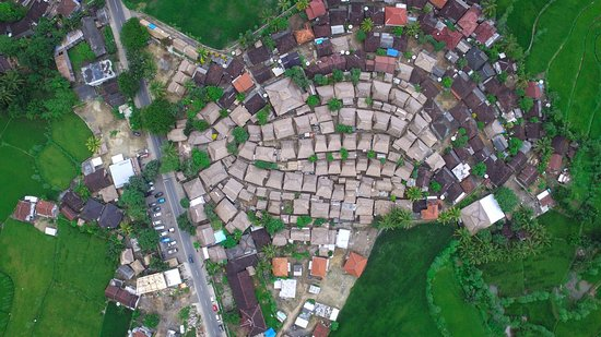 Bird eye view of Sade Sasak Village, Lombok. ©lombokfriendly