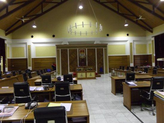 Inside the Parliament Building of Kiribati