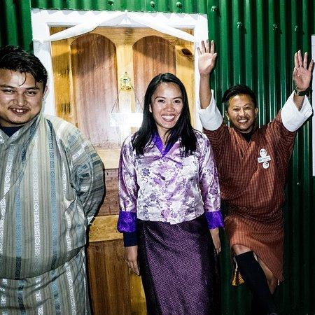 Memorable Bhutan trio with Tenzin and Akash!
