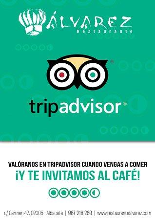 ¡Valóranos en TripAdvisor y te invitamos al café de la comida!