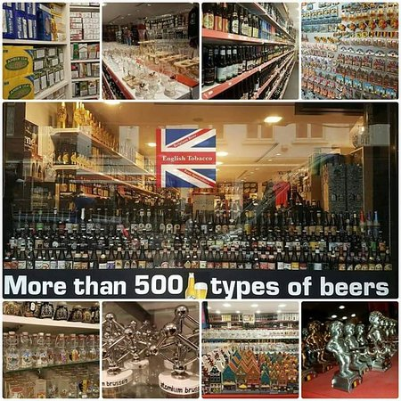 English Tobacco Belgium Beers and Souvenirs
