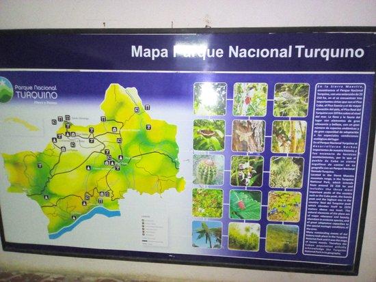 Santiago de Cuba Province, Cuba: Mapa Parque nacional Pico Turquino