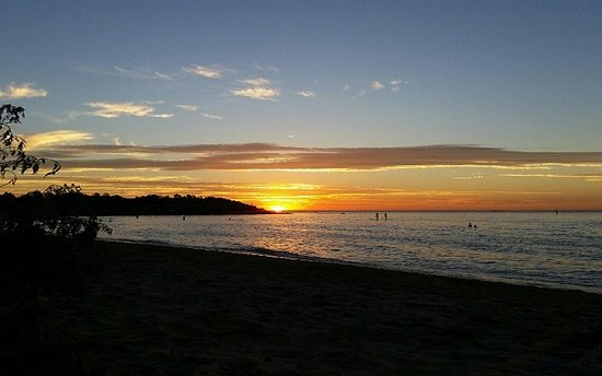 Greater Melbourne, Australia: Mornington Peninsula beach at sunset on Port Phillip Bay