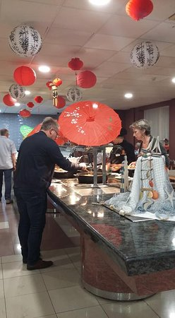 chinese night in restaurant