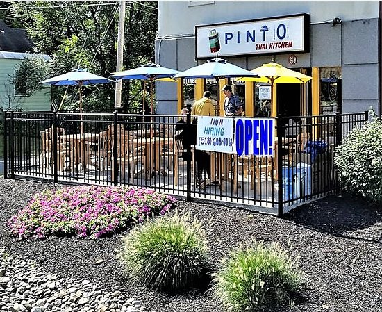 Colonie, Estado de Nueva York: Fair weather patio.