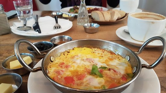 Of Silk & Salt: The egg is kinda like an omelette but Turkish. looked like oven baked.