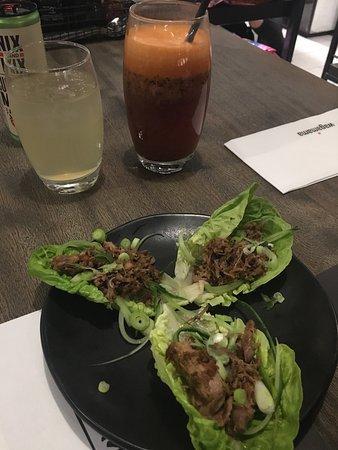 Wagamama: Duck lettuce wraps