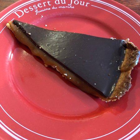 Saint Saens, Prancis: Tarte chocolat caramel beurre salé !