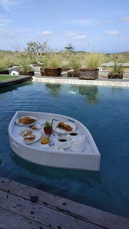 Floating Breakfast Picture Of Hideaway Villas Bali Uluwatu Tripadvisor