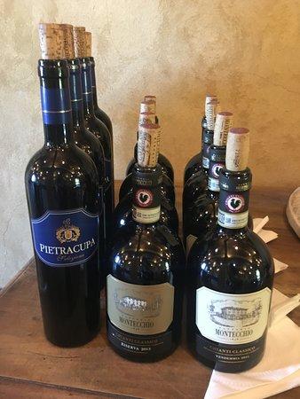 Small-Group Wine Tasting Experience in the Tuscan Countryside: Diese drei Weine haben wir probiert