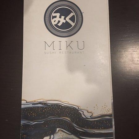 Miku Sushi: Menus
