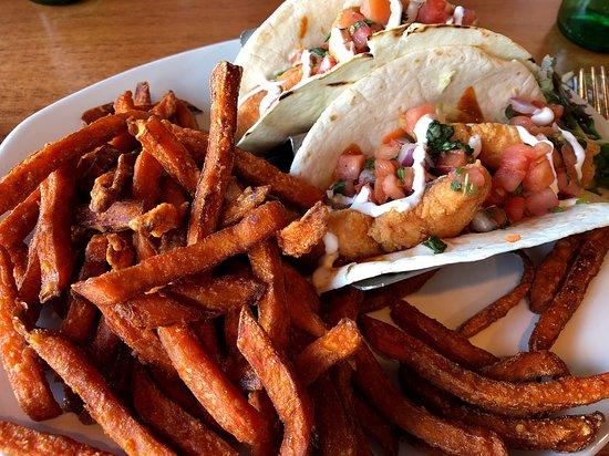 Wormleysburg, PA: Salmon tacos with sweet potato fries