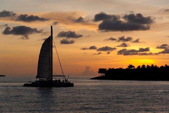 Kauai en catamarán al atardecer con...