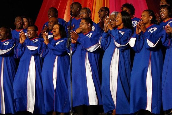 Excursão de ônibus gospel em Harlem...