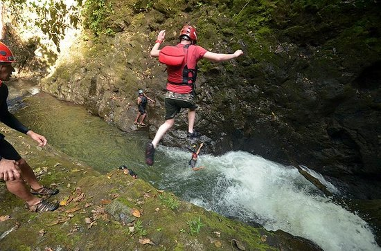 Schwerkraft fällt Cliff Jumping und...