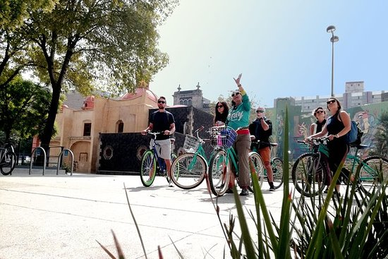 Mexikanische Stadt Urban Art Bike...