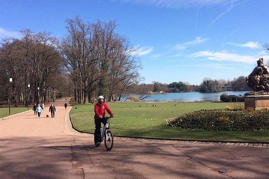 電気自転車でのディスカバリーツアー1時間30分Tete d'Or公園に向かう