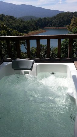 Wayanad Silverwoods Resorts: the incredible view with from the Jacuzzi in the sky romantic suite