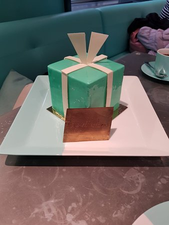 A Tiffany Blue Box Cake specially requested for the newly weds