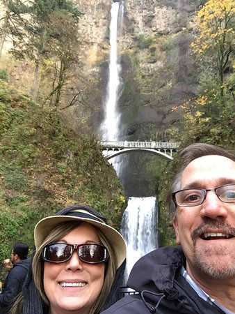 Multnomah Falls. The view from the bridge was fantastic.