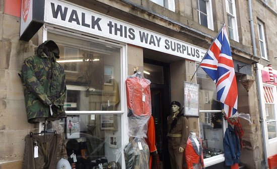 Coldstream, UK: our street front shop