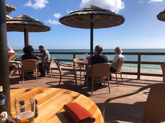 Beach Bar Burgau: View from our table in early November.