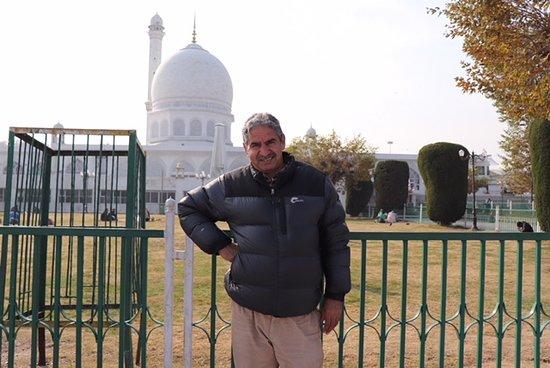 Md Akbar at Hazrat Bal Mosque