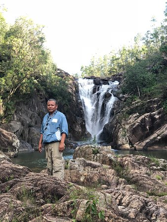 Big Rock Falls at Mountain Pine Ridge Forest. JC Inland Belize Tours with Javier Oscar Coyoc