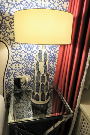 Hotel Estherea: Loved these modern take on Delft lamps!