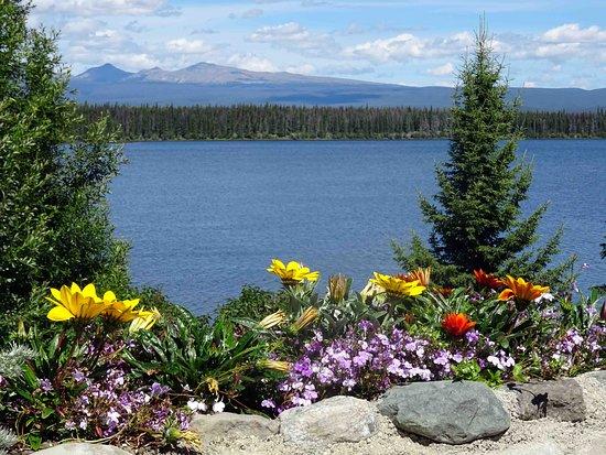 Anahim Lake and mountains