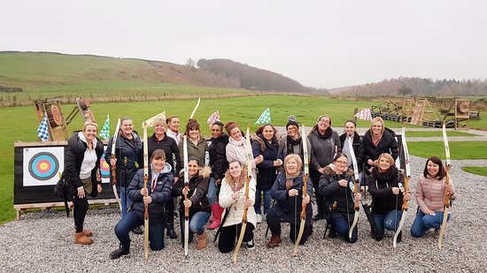 Ringinglow Archery: Another happy bunch of archers on a team building event