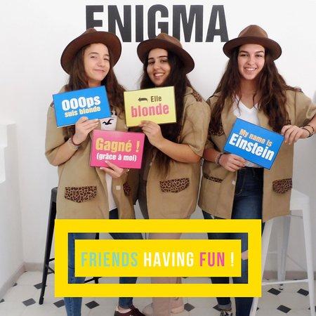 Enigma Escape Game c'est une activité fun à faire entre amis pour changer des sorties habituelles sur Marrakech ;)