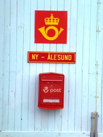 The door of Ny Alesund Post Office