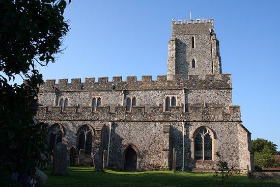 St Nicholas-at-Wade church seen from the north
