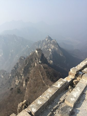 2-day Small group Iconic Great Wall Hiking at Gubeikou&Jinshanling led by farmer: The wall seen from the top of one of the towers.