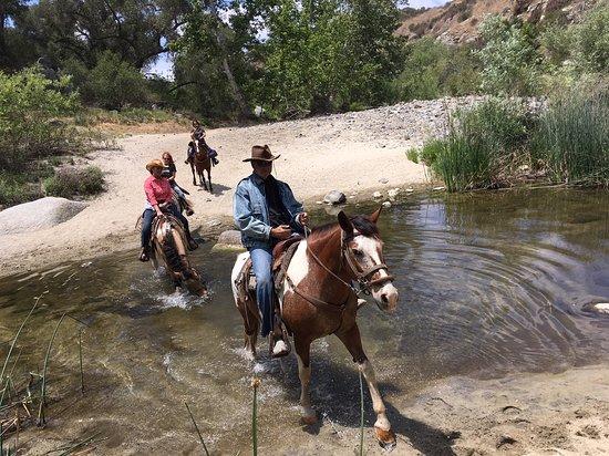 enjoy a scenic ride along a creek