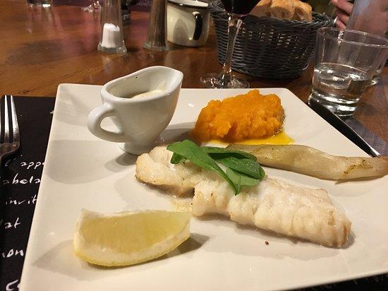 Le Mas Charentais: Cod with a creamy leek sauce