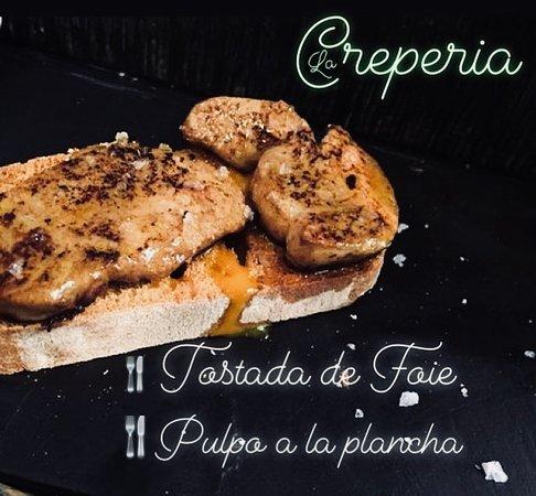 Caspe, Spain: Tostada de Foie
