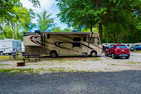 Lake Milton, OH: This is a picture of a site at the back of the campground.
