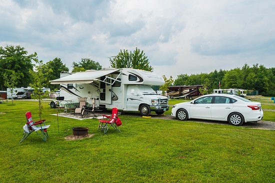 Lake Milton, OH: Here is a picture of one of our Back-in sites in our overnight section.