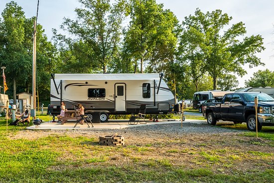 Lake Milton, OH: This is our Deluxe Patio Site.