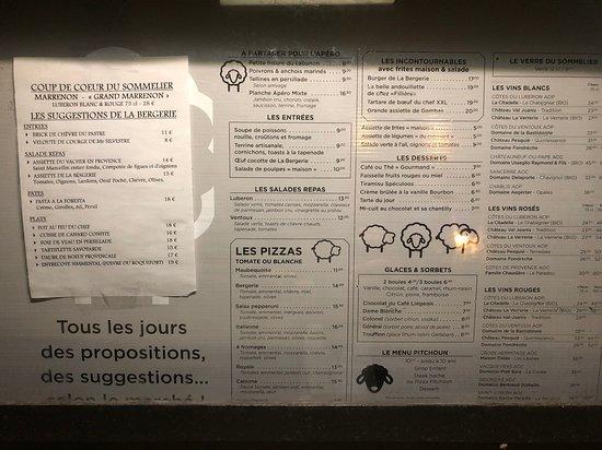 Maubec, France: De menu ...