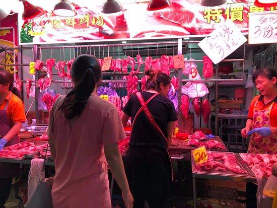Hong Kong Food Tour: Tai Po Market: Meat Market in Tai Po