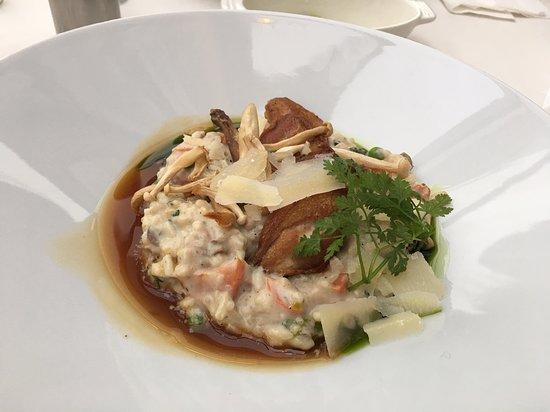 Quail & mushroom risotto